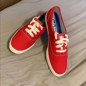 NWOT Red Canvas Keds Sneakers